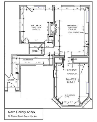 Nave Gallery Annex Floorplan